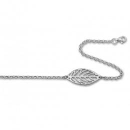 Lavvone - Сребърна гривна без камък Листо 200537
