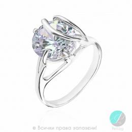 Elaine - Сребърен пръстен с Цирконий 1595925-Сребърни бижута