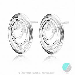 Sharlot - Сребърни обеци с Цирконий 138099