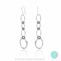 Alvia - Сребърни обеци без камък 401059-Сребърни бижута