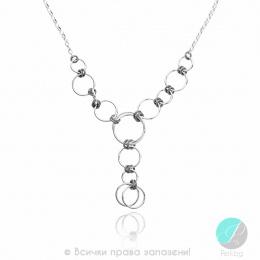 Alvia - Сребърно колие без камък 407059-Сребърни бижута