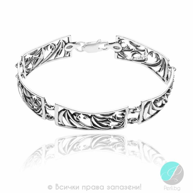 Johanne - Сребърна гривна без Камък 200008-Сребърни бижута