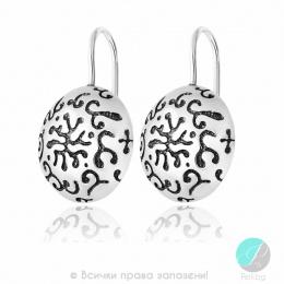 Aceline - Сребърни обеци без камък 136993-Сребърни бижута