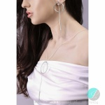 Adalyn  - Сребърни обици без камък 401055-Сребърни бижута