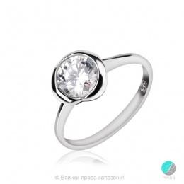 Kristabell - Сребърен пръстен с Циркон 75a -Сребърни бижута