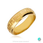 Reality 2 - Брачна халка 6 мм от жълто злато 14к / 585-Златни бижута