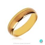 Lovve 2 - Брачна халка 6 мм от жълто злато 14к / 585-Златни бижута