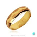 Together - Брачна халка 6 мм от жълто злато 14к / 585-Златни бижута