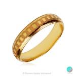 Calmness - Брачна халка 5 мм от жълто злато 14к / 585-Златни бижута