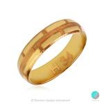 True - Брачна халка 5 мм от жълто злато 14к / 585-Златни бижута