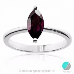 Marcia - Сребърен пръстен с Гранат 606SA