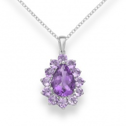 Anastaise - Сребърна висулка с Аметист 11813198-Естествени камъни