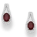 Livis - Сребърни обеци с Естествен камък и  Цирконий 8835399S-Естествени камъни