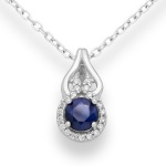 Kamis - Сребърна висулка с Естествен камък и Циркони 888835439-Естествени камъни