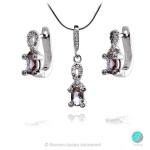 Elettra -  Сребърна висулка със Султанит и Циркони 00121-Естествени камъни