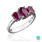 Luce - Сребърен пръстен с Рубин 921s-Естествени камъни
