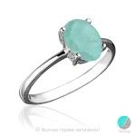 Colombe - Сребърен пръстен с Изумруд 1282S-Естествени камъни