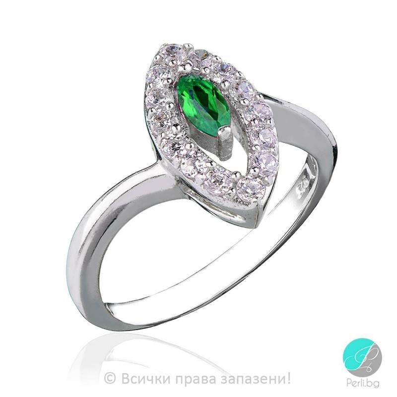 Laure - Сребърен пръстен с циркони s1215-Сребърни бижута