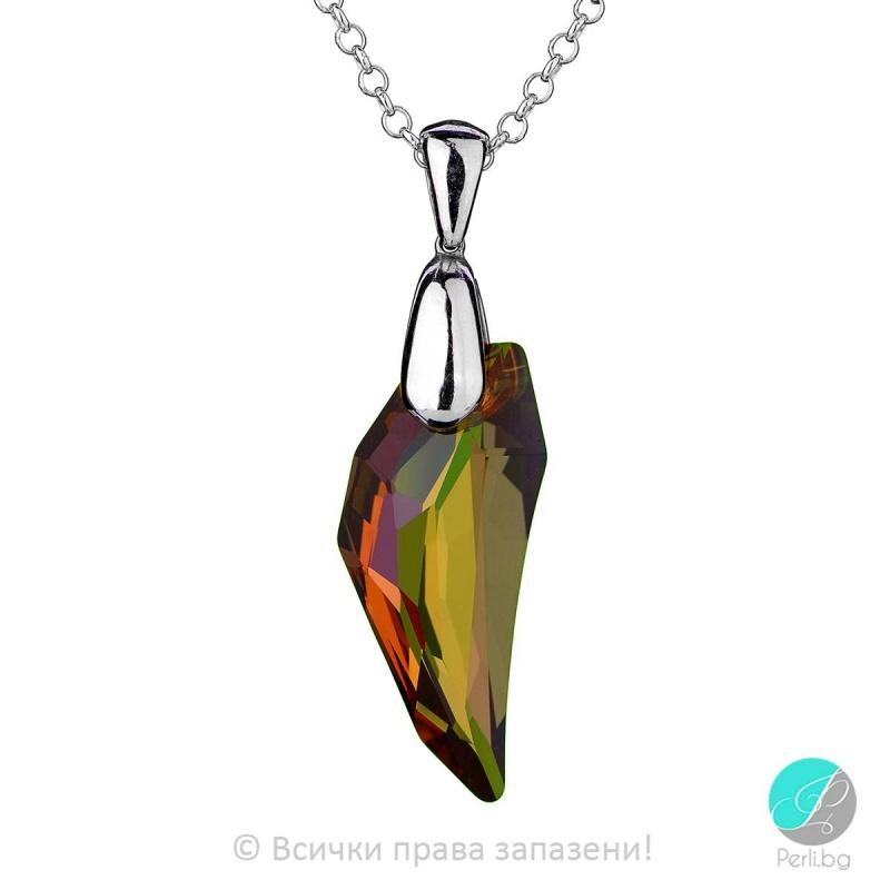 Lottie - Сребърно колие с кристал Swarovski Copper 30мм 61501938-Кристали