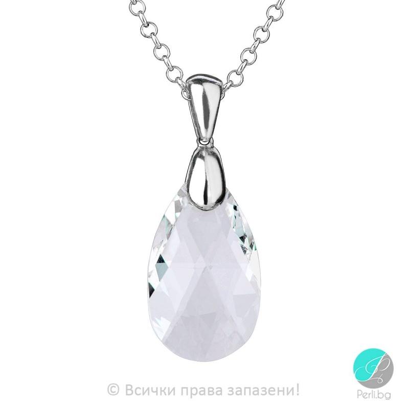 Axelle - Сребърно колие с кристал Swarovski 22мм 61062039-Кристали