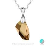 Lisette - Сребърно колие с кристал Swarovski Copper 20мм 66201739-Кристали