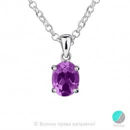 Еvonne - Сребърна висулка с Аметист 13811811580A-Естествени камъни