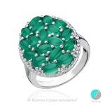 Arianne - Сребърен пръстен със зелен Авантюрин 13811812078-Естествени камъни