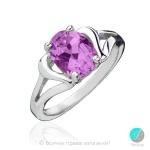 Angele - Сребърен пръстен с Аметист 1181864A-Естествени камъни