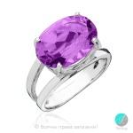 Elise - Сребърен пръстен с Аметист 888831938-Естествени камъни