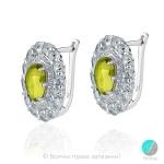 Magalie - Сребърни обеци с Перидот и зелен Аметист 203157184-Естествени камъни