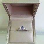 Lolo happy Tanzanit - Сребърен пръстен с Танзанит 0.74ct и Циркони R012108TZ-Естествени камъни