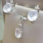 Lady love Rose quartz - Сребърна висулка с Розов кварц и Циркони 4.08ct P014176RQ-Естествени камъни
