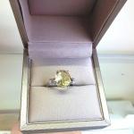 Aura invisible Lemon Topaz - Сребърен пръстен с Лимон топаз и Циркони 4.35ct R014176LT-Естествени камъни