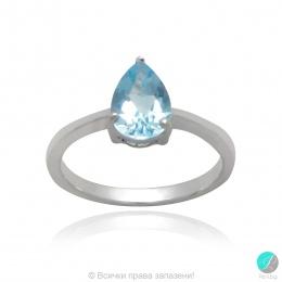 Malisy - Сребърен пръстен със син Топаз 1381181306T