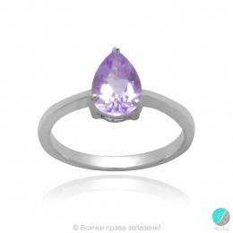 Malisy - Сребърен пръстен с Аметист 1381181306A-Естествени камъни