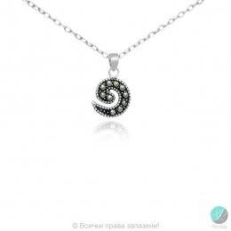Kaliny - Сребърна висулка с Марказит 555656060-Естествени камъни