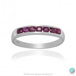 Reenie 2 - Сребърен пръстен халка с Рубин 888834816R-Естествени камъни