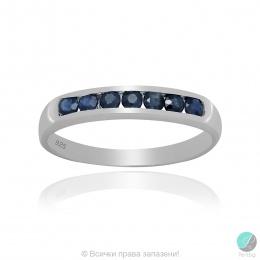 Reenie 2 - Сребърен пръстен халка със Сапфир 888834816S-Естествени камъни