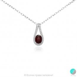 Livis - Сребърна висулка с Рубин и Циркони 888835401R-Естествени камъни