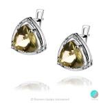 Siana - Сребърни обеци с естествен Лимонов топаз 5.5 ct и Циркони E016161Lt-Естествени камъни
