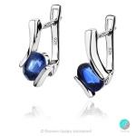 Gentle Blue Kyanite - Сребърни обеци с естествен Син Кианит 2.28 ct E013661Kya-Естествени камъни