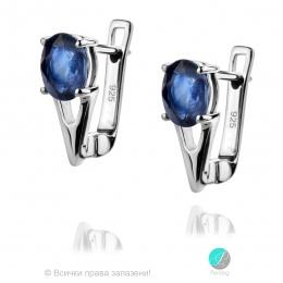 Sapphire Angel - Сребърни обеци с естествен син Сапфир 1.88 ct E017066S-Естествени камъни
