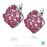 Adalina Ruby Indian - Сребърни обеци с естествен Рубин 7.25 ct E019969R-Естествени камъни