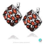 Adria Garnet - Сребърни обеци с естествен Гранат 5.45 ct E019969G-Естествени камъни