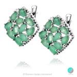 Adria Emerald - Сребърни обеци с естествен Изумруд 4.32 ct E019969E-Естествени камъни