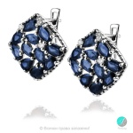 Adria Blue Sapphire - Сребърни обеци с естествен Сапфир 5.73 ct E019969S-Естествени камъни