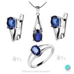 Sapphire Angel - Сребърна висулка с естествен син Сапфир 0.98 ct P017066S-Естествени камъни