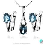 Angel London Blue Topaz - Сребърна висулка с естествен Топаз Лондон 0.96 ct P017066Lbt-Естествени камъни