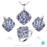 Adalina Tanzanite - Сребърни обеци с естествен Танзанит 4.4 ct E019969Tz-Естествени камъни