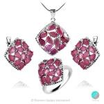 Adalina Ruby Indian - Сребърен пръстен с естествен Рубин 3.34 ct R019969R-Естествени камъни